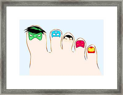 Ten Little Heroes - Right Framed Print by Carlos Vieira