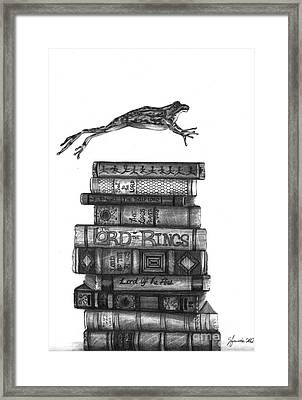 Ten Lords A Leaping Framed Print