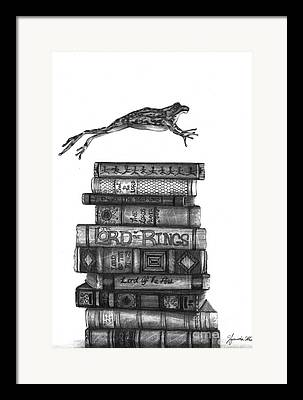 Books Drawings Framed Prints