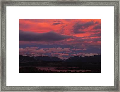 Ten Mile Range At Sunset Framed Print