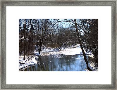 Ten Mile River Framed Print by Barbara Giordano
