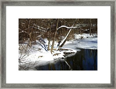 Ten Mile River Ne View Framed Print by Barbara Giordano