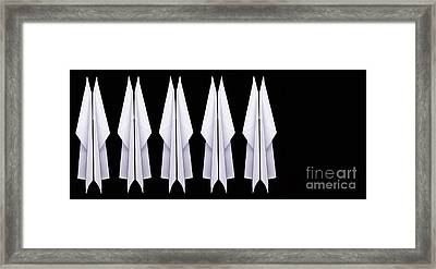 Ten Paper Airplanes Framed Print by Edward Fielding