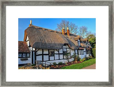 Ten Penny Cottage Welford On Avon Framed Print by David Ross
