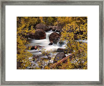 Ten Sleep Autumn Framed Print by Leland D Howard