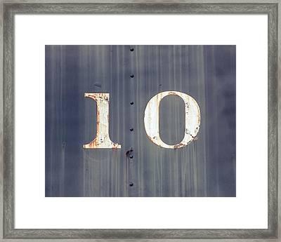 ten Framed Print by Takeshi Okada
