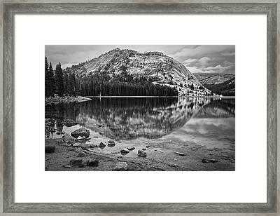 Tenaya Lake In Yosemite In Bw Framed Print
