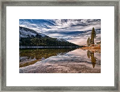 Tenaya Lake Reflections Framed Print by Cat Connor