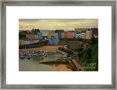 Tenby Harbour In The Morning Framed Print