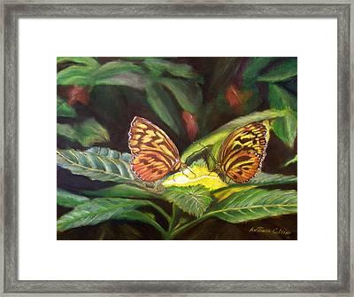 Tender Moment   Pastel Framed Print by Antonia Citrino