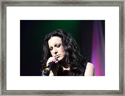 Tender Moments On Stage Framed Print by Shoal Hollingsworth