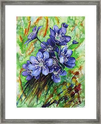 Tenderness Of Spring Framed Print by Zaira Dzhaubaeva