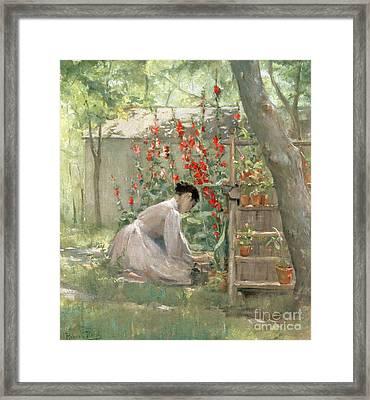 Tending The Garden Framed Print by Robert Reid