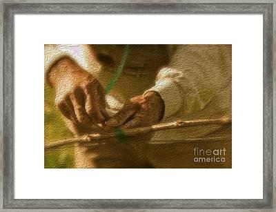 Tending The Vines Framed Print