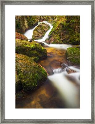 Framed Print featuring the photograph Tendon's Waterfall by Maciej Markiewicz