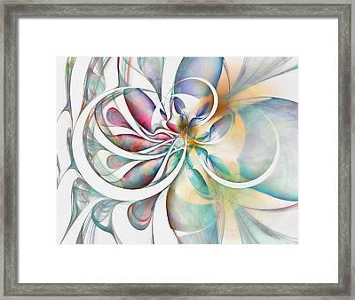 Tendrils 04 Framed Print by Amanda Moore