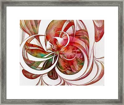 Tendrils 05 Framed Print by Amanda Moore