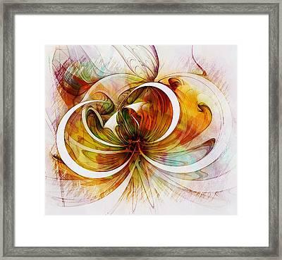 Tendrils 14 Framed Print by Amanda Moore