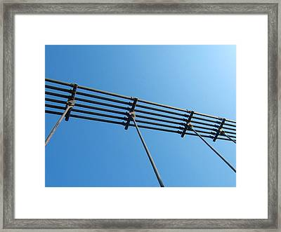 Tendu Sur Le Ciel Framed Print by Marc Philippe Joly