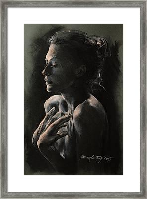 Tenebris Framed Print by Dorina  Costras