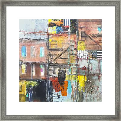 Tenement Dreams Framed Print by Elena Nosyreva