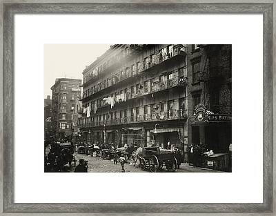 Tenement Housing, New York City, 1912 Framed Print by Science Photo Library