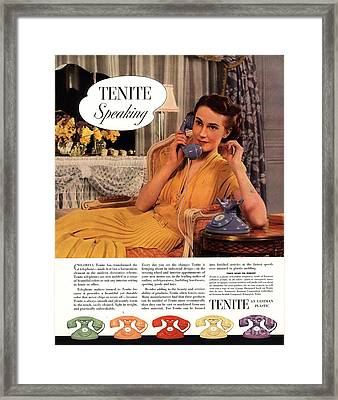 Tenite 1930s Usa Framed Print by The Advertising Archives