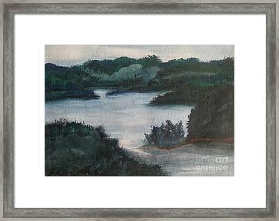 Tenn River At Spring City Tn Framed Print by Myrtle Joy