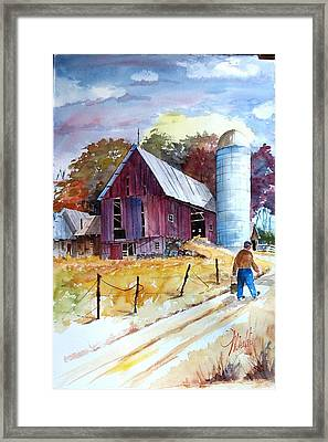 Tennesee Farm Framed Print