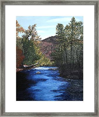 Tennessee A River Through The Woods Framed Print by Beth Parrish