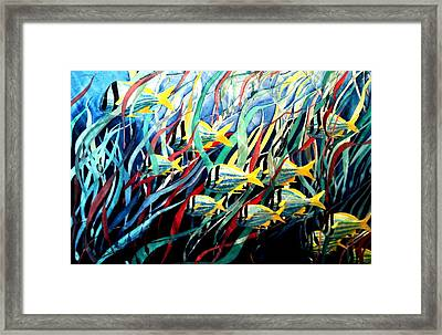 Tennessee Aquarium Fantasy Watercolor Framed Print by Don F  Bradford