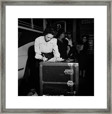 Tennessee Coach Company Baggage Agent Knoxville 1943 Framed Print