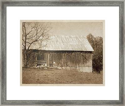 Tennessee Farm Vintage Barn Framed Print by Phil Perkins