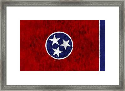 Tennessee Flag Framed Print by World Art Prints And Designs