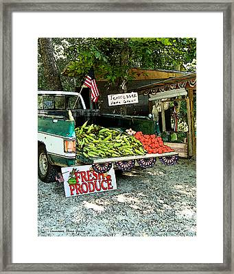 Tennessee Homegrown Framed Print