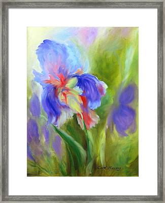Framed Print featuring the painting Tennessee Iris by Carol Berning