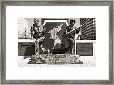 Tennessee Korean War Memorial Framed Print by Dan Sproul