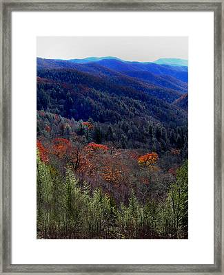 Tennessee Mountains Framed Print by Skip Willits