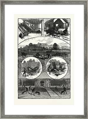 Tennessee Our National Industries Methods Of Iron Mining Framed Print