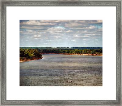 Tennessee River Morning - Water Scene Framed Print