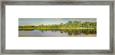 Tennessee River Reflections Panorama Framed Print