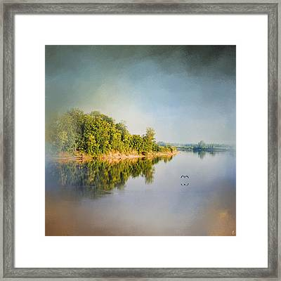 Tennessee River Reflections - Water Landscape Framed Print