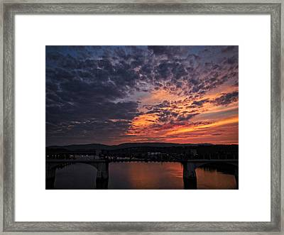 Tennessee River Sunset 2 Framed Print