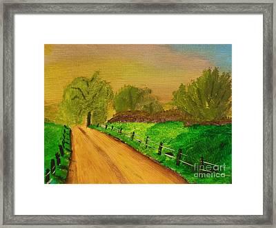 Tennessee Road Framed Print by Harold Greer