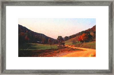 Tennessee Road Framed Print by Spyder Webb
