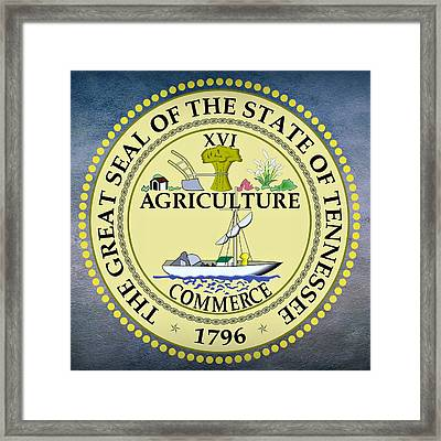 Tennessee State Seal Framed Print by Movie Poster Prints