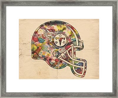 Tennessee Titans Helmet Poster Framed Print