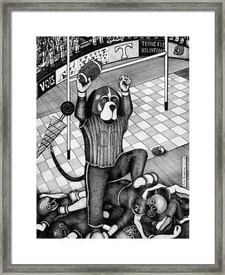 Tennessee Vols Mascot Framed Print by Richie Montgomery
