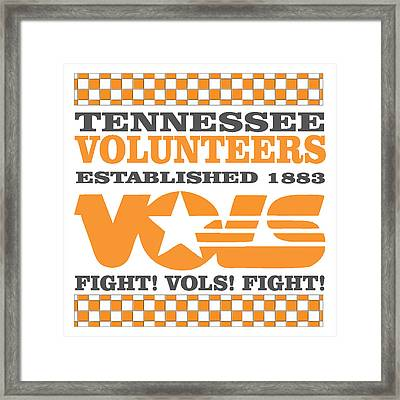 Tennessee Volunteers Fight Framed Print by Debbie Karnes