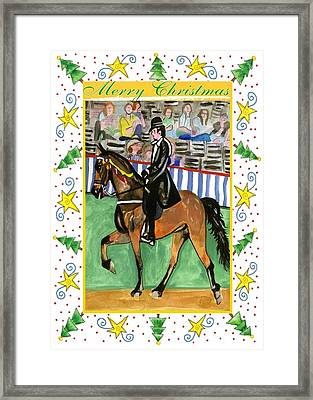 Tennessee Walking Horse Blank Christmas Card Framed Print by Olde Time  Mercantile